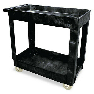 Rubbermaid 300 Lb. Capacity Service Utility Cart Black 9t6600bla New