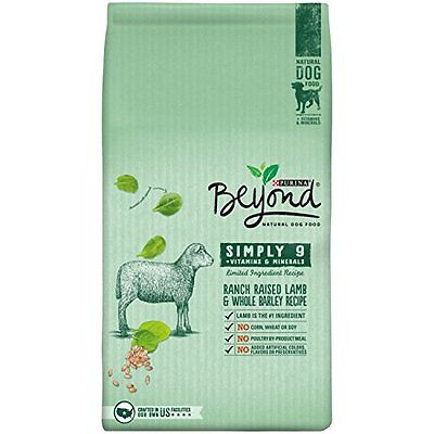 Purina Beyond Natural Dry Dog Food, Simply 9, Ranch Raised Lamb and Whole 1 #4HA