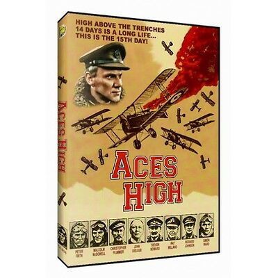 Aces High  Dvd  2014  Western Front Wwi Red Baron Malcolm Mcdowell