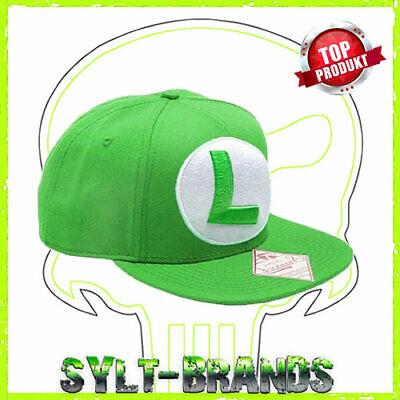Luigi Caps Super Mario Nintendo Snapback Cap Kappe - Super Mario Hats