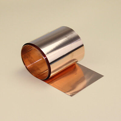 1pcs 99.9 Pure Copper Cu Metal Sheet Foil 0.05 X 100 X 1000 Mm