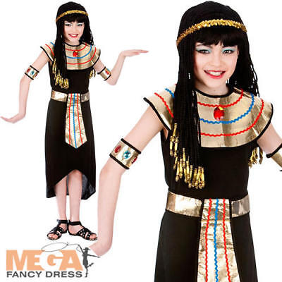 Ancient Egypt Costumes For Girls (Egyptian Queen Cleopatra Girls Fancy Dress Ancient Egypt Kids Book Day Costume)