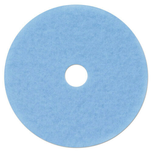 3M 59829 Hi-Performance 5/Carton 21 in. dia. Burnish Pad 3050 - Sky Blue New
