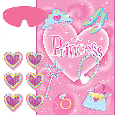 Girly Party Decorations (PRINCESS PARTY GAME POSTER ~ Birthday Supplies Decorations Activity Pink)
