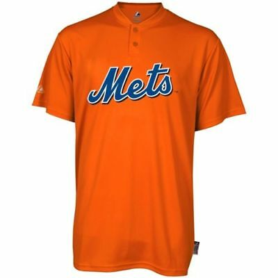 Men's New York Mets Majestic Cool Base 2 Button Replica Jersey MLB Shirt Majestic Mens Cool Base