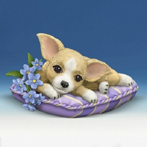 CHIHUAHUA Love Never Forgets Pretty in Purple DOG Figurine NEW