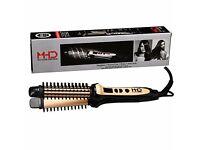 3 in 1 Ceramic Straightening hair Brush Heat Resistant Hair Straightener and Ceramic Curler