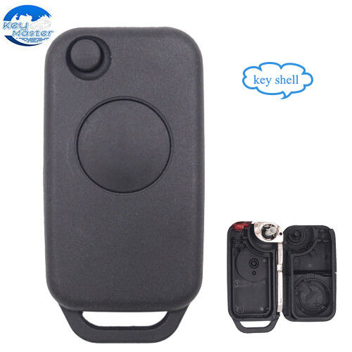 Flip Remote Key Shell Housing Fob 1 Button for Mercedes-Benz ML55 AMG C230 C36