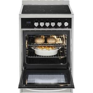 "Haier 24"" 2.0 Cu. Ft. Free-Standing Smooth Top Electric Range (HCR2250AAS) - Stainless Steel"
