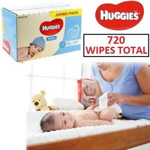 NEW 10PK HUGGIES BABY WIPES 210002247 10PK/BOX 72 WIPES PER PACK 25%EXTRA FREE
