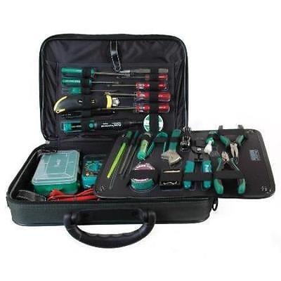 NEW Electronic Technician Tool Kit w/ case.Field Electrician Service Tech - Tech Tool Kit