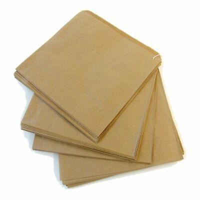 1000 PAPER BAGS STRUNG BROWN KRAFT FOOD TAKEAWAY GROCERY BAG 7'' x 7''