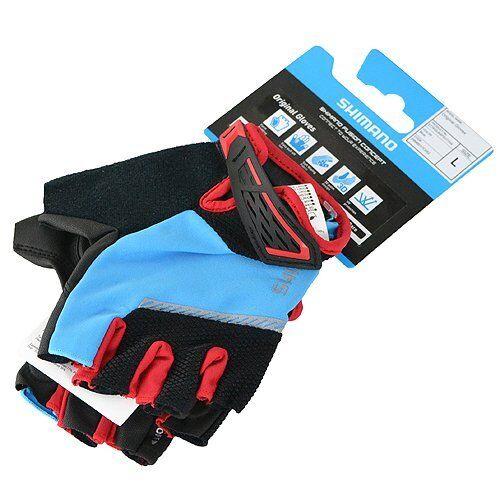 Shimano Original Bike Gloves Size M or L, Blue