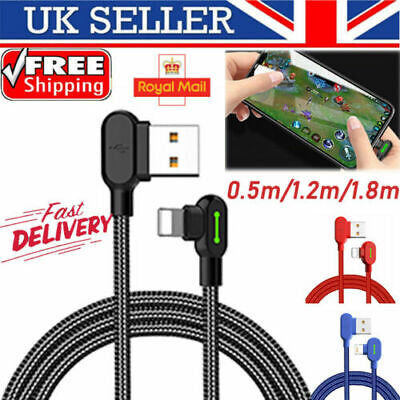 UK TITAN POWER + Smart USB Fast Charging Charger Sync Data Cable 3.0 For iPhone