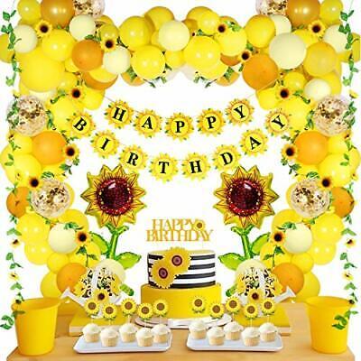105 PCS Sunflower Birthday Decorations  Sunflower Garland, Wedding Baby Shower