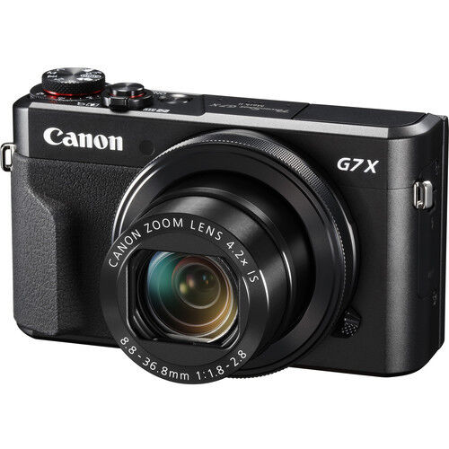 Canon PowerShot G7 X Mark II 20.1-Megapixel Digital Camera Black 1066C001