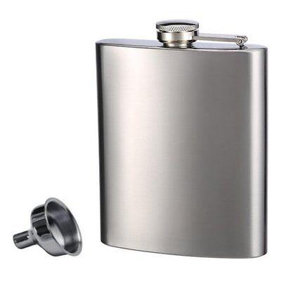 Top Shelf Flasks Stainless Steel Flask & Funnel Set, 8oz