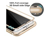 3D Tempered Glass Screen Protector Film with Curved Edge for iPhone 7/8 - Gold (UK FREE DELIVERY)