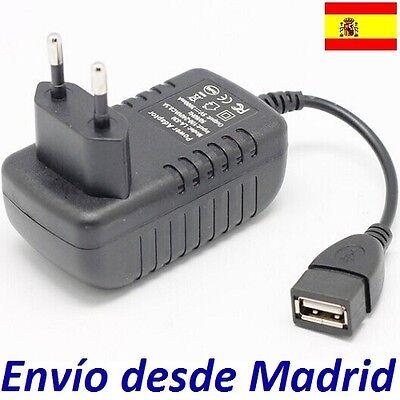 Cargador Corriente 5V 3A 3000mA con Cable USB Hembra Female 15W Alimentacion...