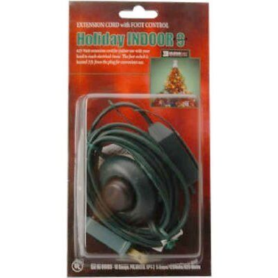 Coleman Cable 09493 9-Foot Christmas Extension with On/Off Foot Switch