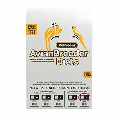 ZuPreem 230344 Natural Avian Breeder Food for Birds Medium 40-Pound