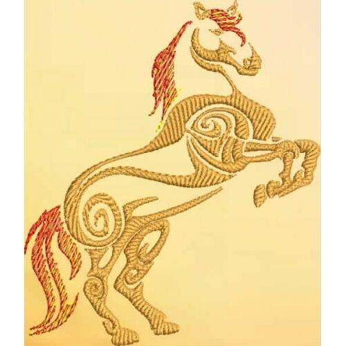 Embroidered Sweatshirt - Tribal Horse S1-07 Sizes S - XXL