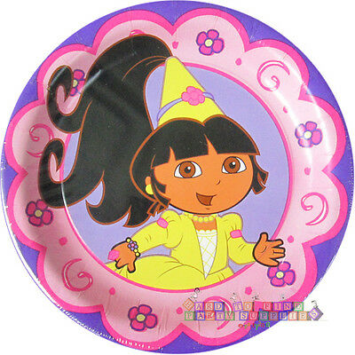 DORA THE EXPLORER Princess SMALL PAPER PLATES (8)~ Birthday Party Supplies Pink