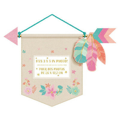 1st BIRTHDAY Boho Girl DELUXE PHOTO HOLDER HANGING CANVAS SIGN ~ Party Supplies - First Birthday Signs