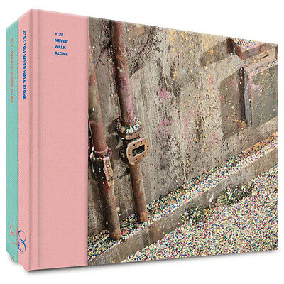 BTS-[WINGS:YOU NEVER WALK ALONE]Album 2 Ver SET+BTSPOSTER+Book+Card Sealed