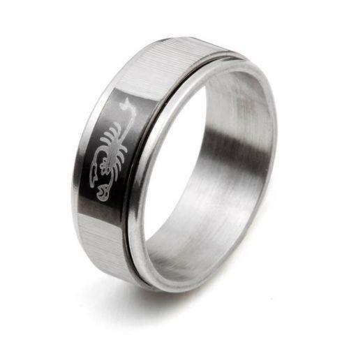 Womens Stainless Steel Spinning Ring