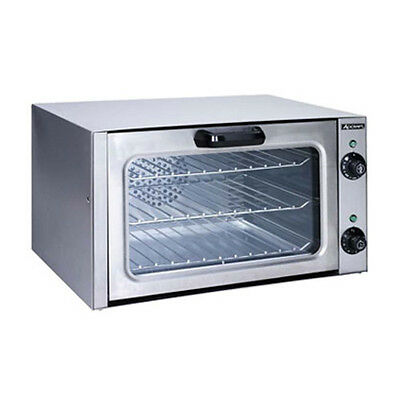 Adcraft Coq-1750w Countertop Electric Quarter Size Convection Oven