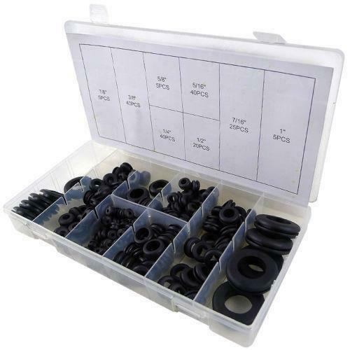 180 PC ASSORTMENT RUBBER GROMMET KIT SET FIREWALL HOLE  WIRE WIRING ELECTRICAL Business & Industrial