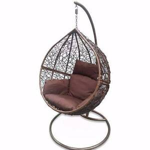 Outdoor egg Chair Pod Swing Hanging Stand Berwick Wicker Rattan Berwick Casey Area Preview
