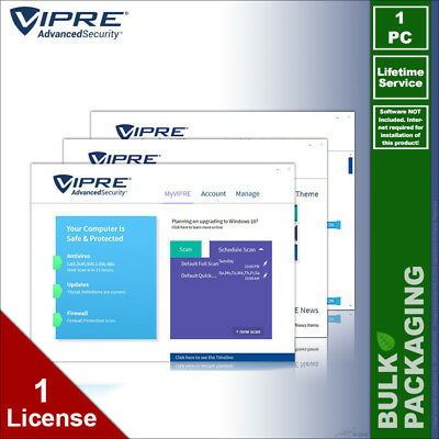 VIPRE 2019 Advanced Security Antivirus - 1 PC - LIFETIME License