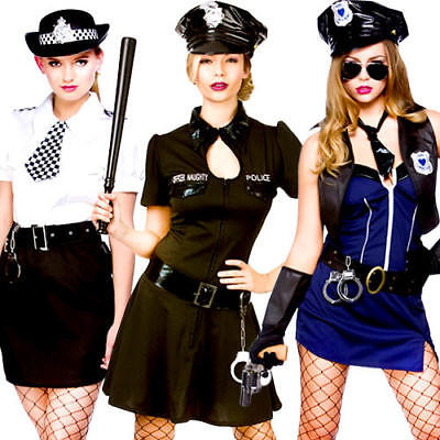 Sexy Police Woman Lady Officer Ladies Fancy Dress Cops Uniform Adults - Lady Police Officer Kostüm