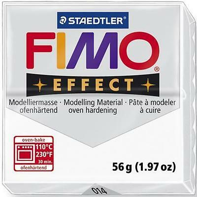 Staedtler Fimo Effect Polymer Modeling Clay 2oz - White Translucent (#8020-014)