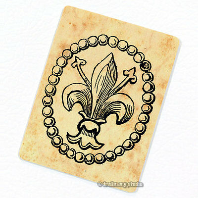 - Fleur de Lis #1 Deco Magnet, Decorative Fridge Lily Refrigerator Décor Mini Gift