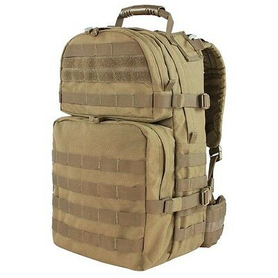 Condor 129 TAN Medium Assault Pack MOLLE Modular Tactical Backpack Waist Band