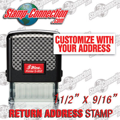 Shiny 852 Return Address Stamp - 3 Line Self-inking Ideal 50 Or 4911 Size