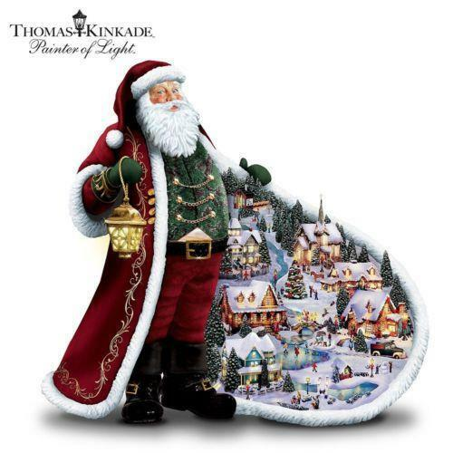 Santa Claus Decorations Uk: Thomas Kinkade Christmas