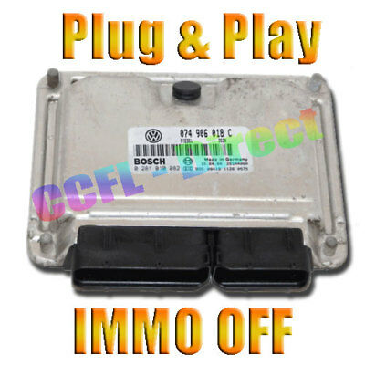 VW T4 25 TDI UNLOCKED ECU 0281010082 074906018C ACV IMMO OFF PLUG  PLAY