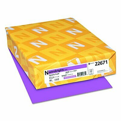 Astrobrights Color Paper 8.5 X 11 24 Lb89 Gsm Planetary Purple 500 Sheets
