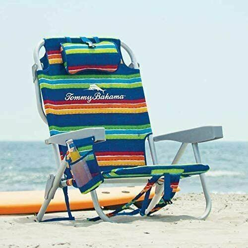 Tommy Bahama Backpack Beach Chair Multi-Striped