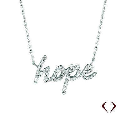 Hope Diamond Necklace - 0.26CTW Diamond Hope Necklace G SI 14K