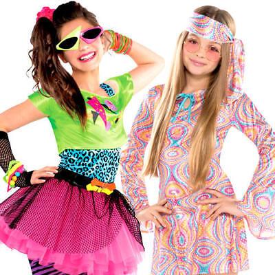 Disco Funk Girls Fancy Dress 70s 80s Diva Dance Childrens Teens Costume - Teen Dance Kostüm