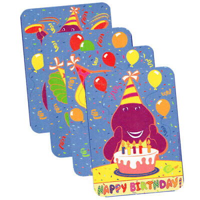 BARNEY PRINT DECORATIONS (4) ~ Vintage Birthday Party Supplies Wall PBS Kids - Barney Birthday Party Supplies