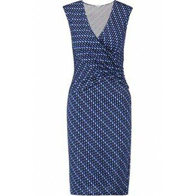 Diagonal Dots (DIANE VON FURSTENBERG DVF $368 Leora Stretch Silk Diagonal Dots Dress Size 8)