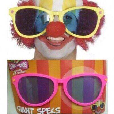 Erwachsene Zirkus Clown Kostüm Jumbo Brille von Smiffys - Jumbo Clown Kostüm