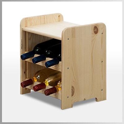 Rw-3 Farbe (Weinregal*Flaschenregal Weinschrank für 6 Flaschen Kiefer RW-3-6P / 3 FARBEN)