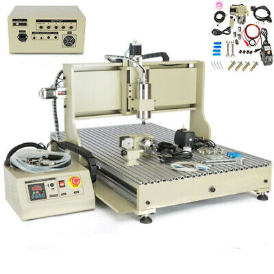 2.2kw 4axis Usb Cnc 6090 Vfd Router Engraver Metal Carving Drill Milling Machine